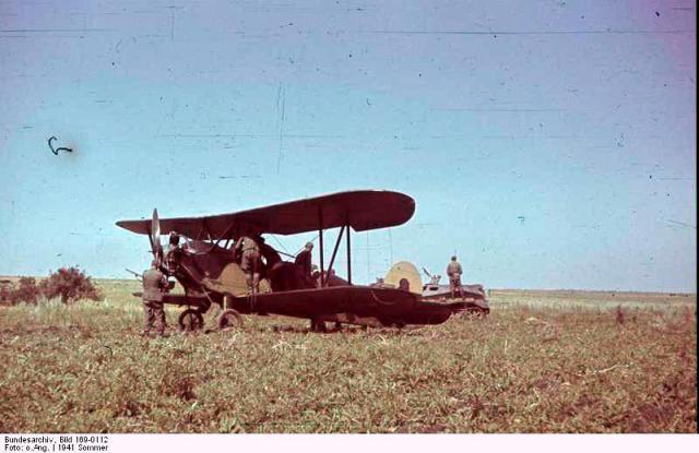 Russland, erbeutetes Flugzeug Po-2